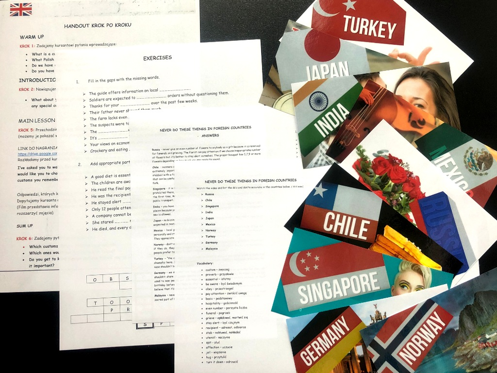 Foreign customs. Materiały do konwersacji z video i tekstem