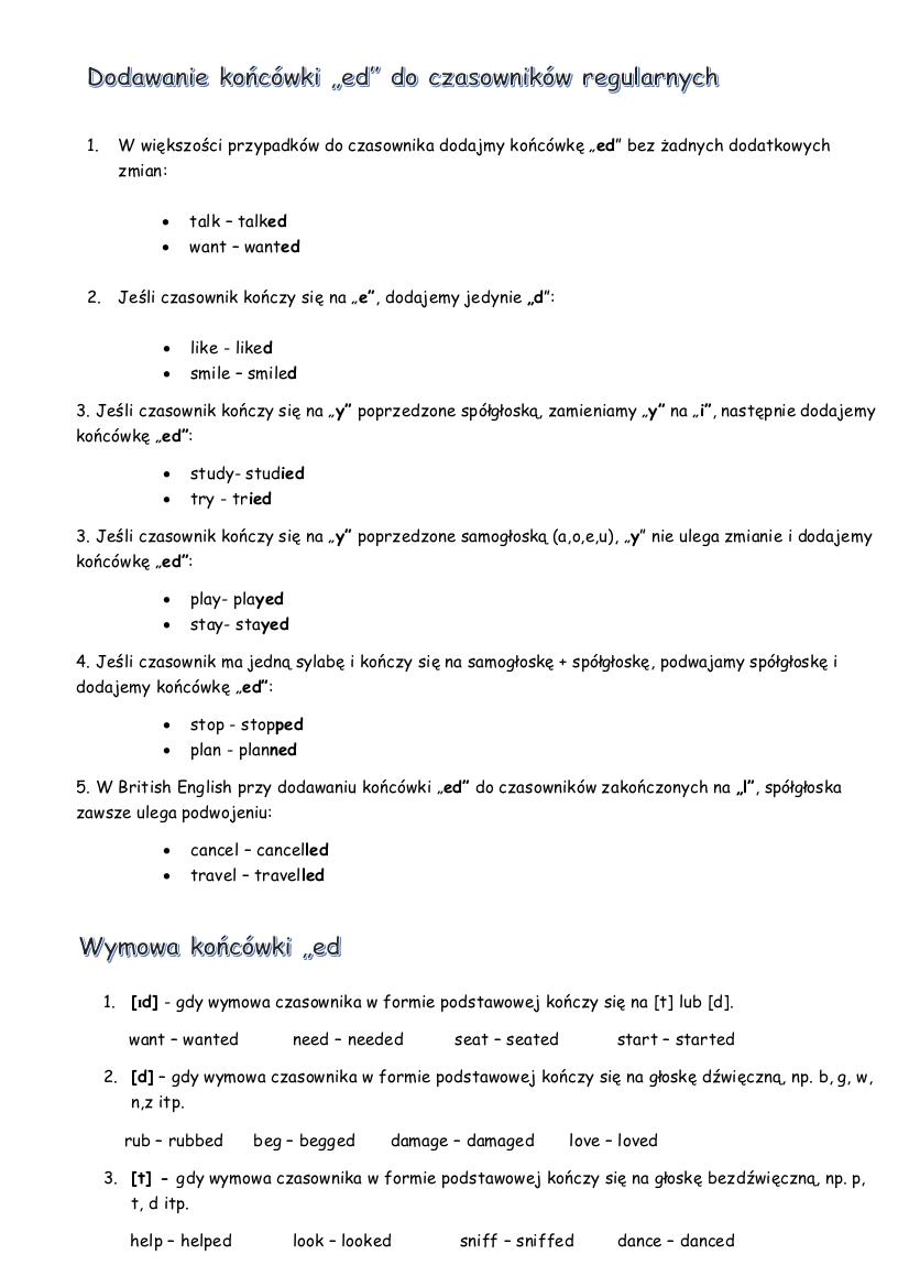Czasy przeszłe - struktura i znaczenie cz3